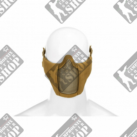 Mk.II Steel Half Face Mask - Tan - Invader Gear